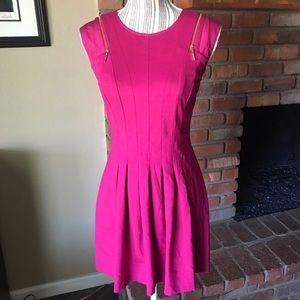 Ted Baker Danu Fuchsia Pink Fit n' Flare Dress